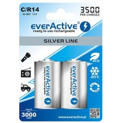 2x akumulatorki everActive R14/C Ni-MH 3500 mAh ready to use