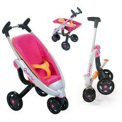 Smoby Spacerówka wózek trójkołowy dla lalek Quinny Maxi Cosi metal
