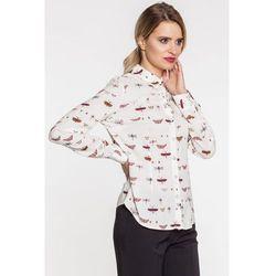 Kremowa koszula w motyle - Duet Woman