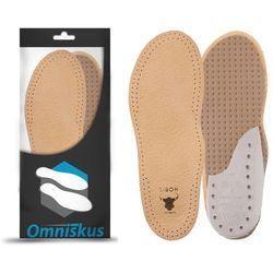 Skórzane wkładki do butów na ostrogi piętowe