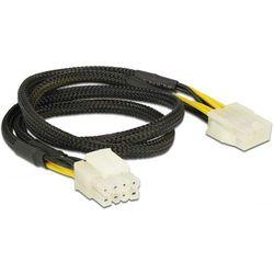 Delock Przedłużacz Kabla zasilającego EPS(M)(2X4 PIN) -EPS(F) 8PIN 44CM (83653)
