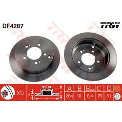 TARCZA HAM TRW DF4287 HYUNDAI SANTA FE 2.0, 2.0CRDI 4X4 01-, 2.4 16V 01-/ KIA SPORTAGE 2.0 16V 4WD 04-