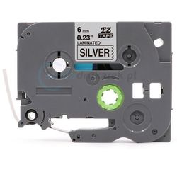 Taśma Brother TZE-911 srebrna/czarny 6mm x 8m zamiennik