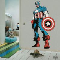 Naklejki na ściany, Naklejka Marvel Comics Life Size Captain America 70-488