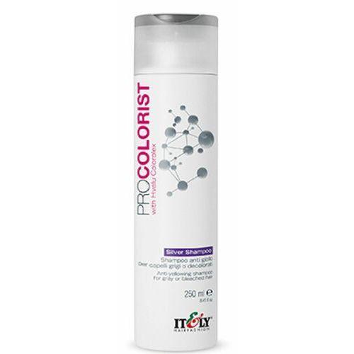 Mycie włosów, Itely Hairfashion PROCOLORIST SILVER SHAMPOO Szampon usuwający zażółcenia z siwych bądź rozjaśnianych włosów (250 ml)