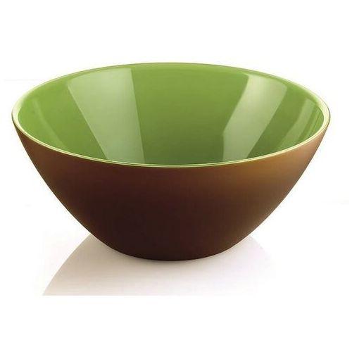 Misy i miski, Guzzini - My Fusion - misa 25 cm, brązowo - zielona - zielony ||brązowy
