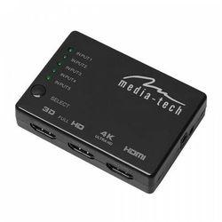 MEDIA-TECH 5X HDMI SWITCH 4K MT5207- natychmiastowa wysyłka, ponad 4000 punktów odbioru!