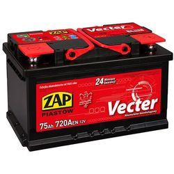 Akumulator ZAP Vecter 75Ah 720A niska PRAWY PLUS