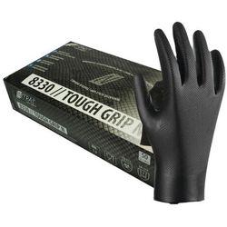 Nitrylowe rękawice Nitras Tough Grip N, bezpudrowe, czarne 50 szt. - roz. XXL