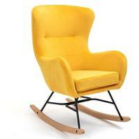 Fotele, FOTEL BUJANY YC-9117 ŻÓŁTY WELUR