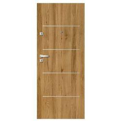 Drzwi wewnątrzklatkowe drewniane Dominos Alu 80 prawe dąb Bergen