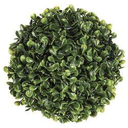 Dekoracyjna sztuczna roślina bukszpan kula, sztuczne kwiaty, kula dekoracyjna - Ø 18 cm