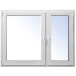 Okno PCV rozwierne + rozwierno-uchylne 1465 x 1135 mm prawe białe
