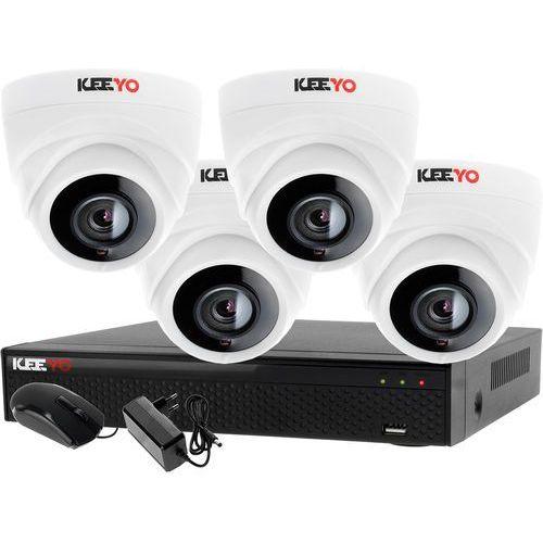 Zestawy monitoringowe, Monitoring Zestaw 4 kamerowy do szkoły przedszkola 4W1 4x Kamera LV-AL1M2FDPWH Rejestrator 4 kanałowy LV-XVR44N-II P2P