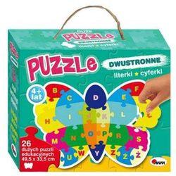 Puzzle dwustronne 26 Literki, cyferki. Motyl