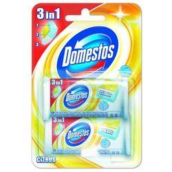Domestos 3in1 Citrus Kostka toaletowa Opakowanie uzupełniające 2 x 40 g