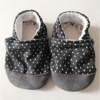 Butki dla niemowląt, Papcie Titot - rozmiar 18-24 miesięcy - Graphite Tipi ze skórką