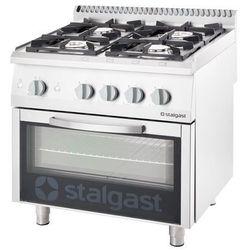 Kuchnia gazowa 20,5 kW z piekarnikiem elektrycznym 600x400 STALGAST 9716130