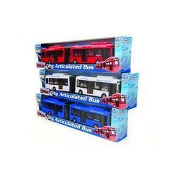 Autobus przegubowy miejski 1:48 niebieski