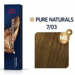 Wella Koleston Perfect ME+   Trwała farba do włosów 7/03 60ml