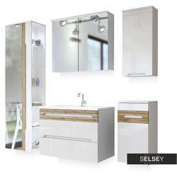 SELSEY Zestaw mebli łazienkowych Warner z lustrem średni
