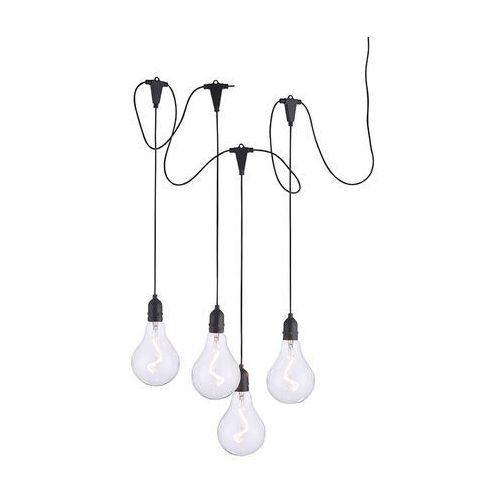 Ozdoby świąteczne, Nowoczesna lampa wisząca czarna w tym LED IP44 - Nomade