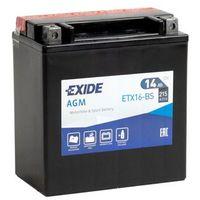 Akumulatory do motocykli, Akumulator motocyklowy EXIDE ETX16-BS/ YTX16-BS 12V 14Ah 215A EN L+