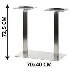 Podstawa stolika podwójna SH-3003-1/S/6, (stelaż stolika), stal nierdzewna szczotkowana, nogi 6x6 cm