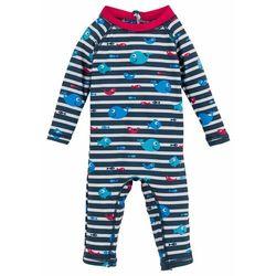 Kombinezon kąpielowy niemowlęcy z ochroną UV, chłopięcy bonprix ciemnoniebiesko-czerwony