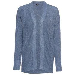 Sweter kopertowy z frędzlami, długi rękaw bonprix jeżynowy