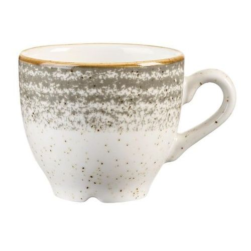 Filiżanki, Filiżanka do espresso 0,1 l | CHURCHILL, Homespun Style Stone Grey