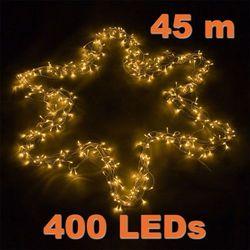 LAMPKI CHOINKOWE 400 DIOD LED OZDOBA NA ŚWIĘTA - 400 LED / 45 METRÓW