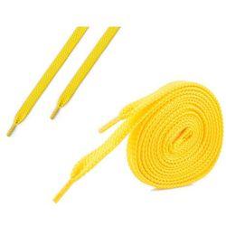 Sznurówki płaskie do butów 7 mm - żółte - Żółty