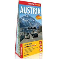 Mapy i atlasy turystyczne, Austria (Austria); laminowana mapa samochodowa 1:500 000 - Praca zbiorowa