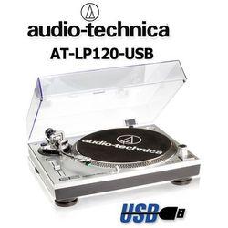 Gramofon stereofoniczny Audio-Technica AT-LP120USBHC Silver