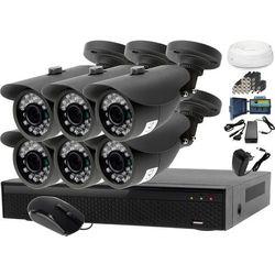 Monitoring domu jednorodzinnego zestaw: Rejestrator LV-XVR84N, 6x Kamera LV-AL20MT, akcesoria