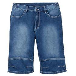 """Bermudy dżinsowe ze stretchem w wygodnym fasonie bonprix niebieski """"medium bleached"""