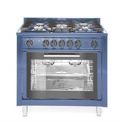Hendi Kuchnia gazowa 5-palnikowa z konwekcyjnym piekarnikiem elektrycznym i z grillem | niebieska - kod Product ID