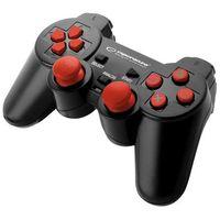 """Gamepady, Gamepad PS3/PC USB Esperanza """"Trooper"""" czarno/czerwony"""