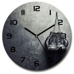Zegar szklany okrągły Rękawice bokserskie