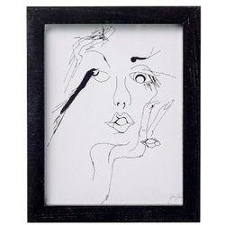 Plakat / grafika szkic kobiety, mały - Bloomingville