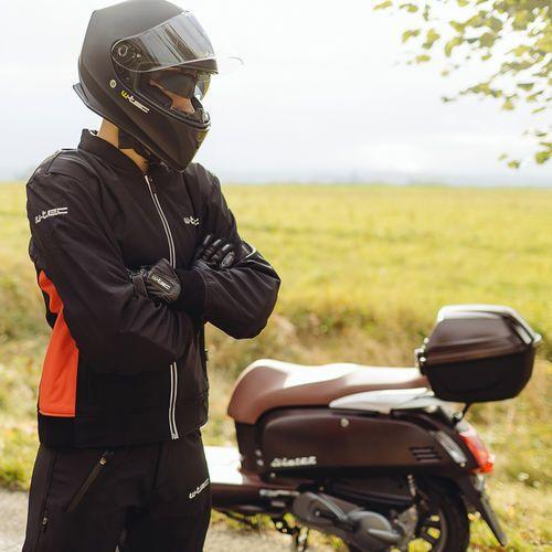 Spodnie motocyklowe męskie, Męskie spodnie motocyklowe soft-shell W-TEC Guslic NF-2801, Czarny, L