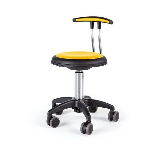 Pozostałe meble biurowe, Mobilny stołek STAR, 380-480 mm, żółty