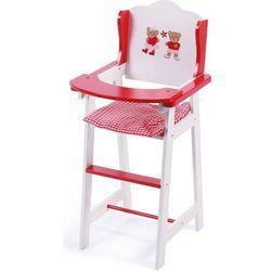 Bayer Chic Drewniane krzesełko do karmienia dla lalek, czerwone - BEZPŁATNY ODBIÓR: WROCŁAW!