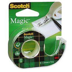 Taśma samoprzylepna Scotch Magic 8-1975, matowa na podajniku 19mm x 7,5m
