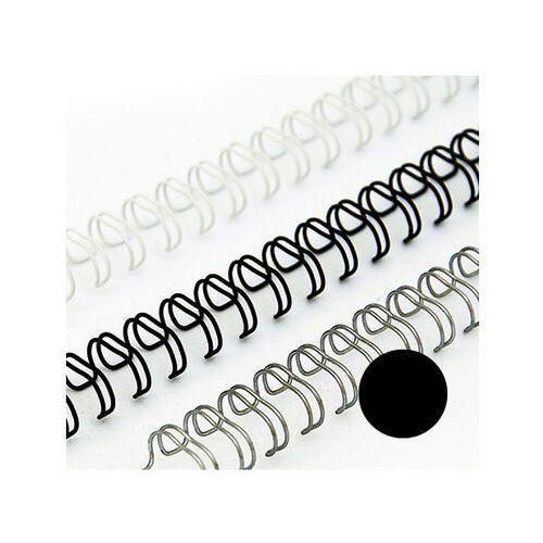 Grzbiety do bindownic, Grzbiety drutowe 14.3 mm, oprawa do 115 kartek, czarne