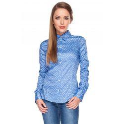 Koszula niebieska w biały wzór - Duet Woman