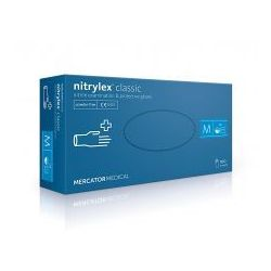 """Rękawice nitrylowe bezpudrowe NITRYLEX® Classic """"XS"""" 100szt."""