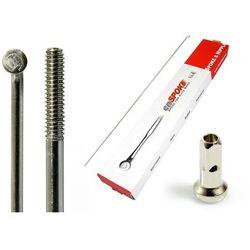 Szprychy CNSPOKE STD14 2.0-2.0-2.0 stal nierdzewna 242mm srebrne + nyple 144szt.