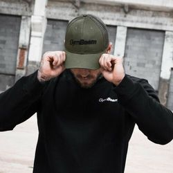 GymBeam Bejsbolówka Mesh Panel Cap Military Green